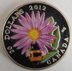 Moneda > 20dólares, 2012 - Canadá  (Aster y abejorro) - reverse
