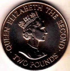 Moneda > 2libras, 1993 - Jersey  (40 aniversario - Coronación de la Reina Elisabeth II) - obverse