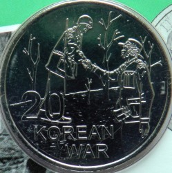 Coin > 20 cents, 2016 - Australia  (ANZAC to Afghanistan - Korean War) - reverse