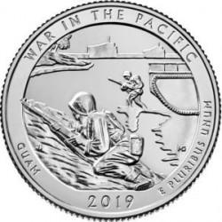 Moneda > ¼dollar, 2019 - Estats Units  (Guerra en el Parc Històric Nacional del Pacífic) - obverse