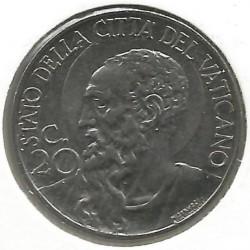 Mynt > 20centesimi, 1940-1941 - Vatikanstaten  - reverse