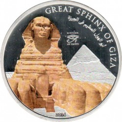 Moneda > 1 dólar, 2014 - Islas Cook  (History of Egypt - Great Sphinx of Giza) - reverse