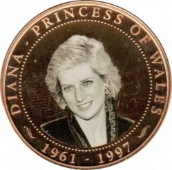 Монета > 1 долар, 2007 - Острови Кука  (Diana Princess of Wales (black and white photo of Diana)) - reverse