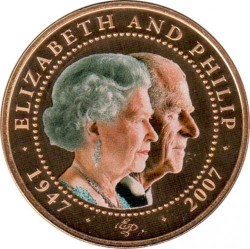 Moneta > 1 doleris, 2007 - Kuko Salos  (60th Anniversary - Wedding of Elizabeth II and Prince Philip /Head of Elizabeth and Philip/) - reverse