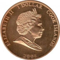 Монета > 1доллар, 2008 - Острова Кука  (Принцесса Диана Уэльская (Диана в розовой шляпке)) - obverse