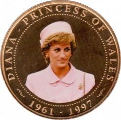 Moneda > 1dólar, 2008 - Islas Cook  (Diana Princess of Wales (Diana in pink hat)) - reverse