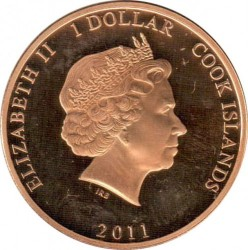 Mynt > 1 dollar, 2011 - Cook Islands  (Wedding of Prince William and Kate Middleton /Kate in white cloat/) - obverse