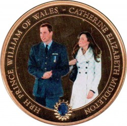 Mynt > 1 dollar, 2011 - Cook Islands  (Wedding of Prince William and Kate Middleton /Kate in white cloat/) - reverse
