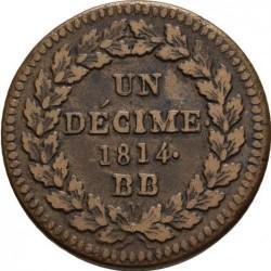 Moneda > 1decime, 1814-1815 - Francia  - reverse