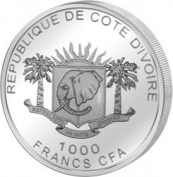 Moneta > 1000franków, 2010 - Wybrzeże Kości Słoniowej  (Continent of Hope) - obverse