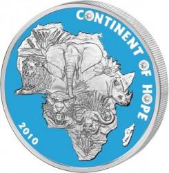 Moneta > 1000franków, 2010 - Wybrzeże Kości Słoniowej  (Continent of Hope) - reverse