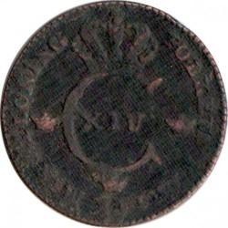 Moneta > ¼skilling, 1819-1830 - Szwecja  - obverse
