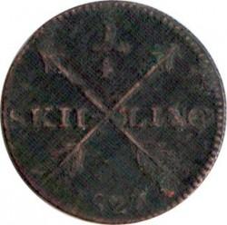 Moneta > ¼skilling, 1819-1830 - Szwecja  - reverse