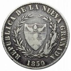 錢幣 > 2雷亞爾, 1850-1853 - 哥倫比亞  - obverse