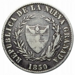 錢幣 > 2雷亞爾, 1850-1853 - 哥倫比亞  - reverse