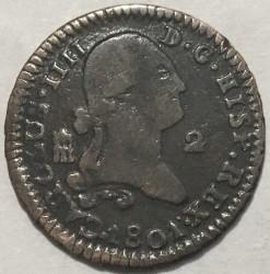 Кованица > 2maravedis, 1788-1808 - Шпанија  - obverse