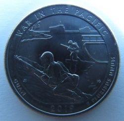 Moneda > ¼dólar, 2019 - Estados Unidos  (War in the Pacific National Historical Park) - reverse