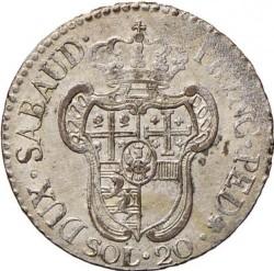 Кованица > 20soldi, 1794-1796 - Sardinia  - reverse