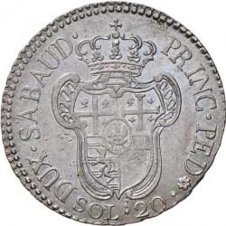 Монета > 20сольдо, 1794-1796 - Сардиния  - reverse