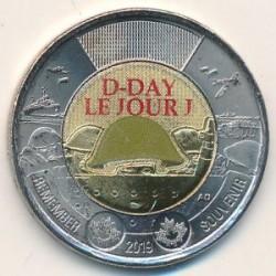 Moneta > 2dollari, 2019 - Canada  (75° anniversario - Sbarco in Normandia, Colorata) - obverse