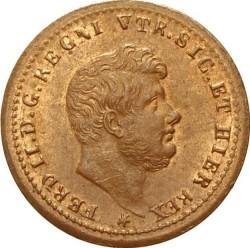 Кованица > ½tornese, 1853-1854 - Две Сицилије  (Large head) - obverse