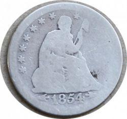 Minca > ¼dolára, 1854-1855 - USA  (Seated Liberty Quarter) - obverse