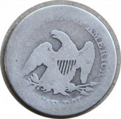 Minca > ¼dolára, 1854-1855 - USA  (Seated Liberty Quarter) - reverse