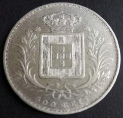 Монета > 500рейса, 1863-1889 - Португалия  - reverse