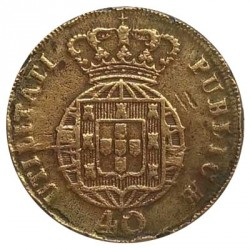 Монета > 40рейса, 1820-1825 - Португалия  - reverse