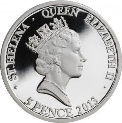Монета > 5пенсов, 2013 - Остров Святой Елены  (400 лет установлению дип. отношений между Японией и Великобританией) - reverse