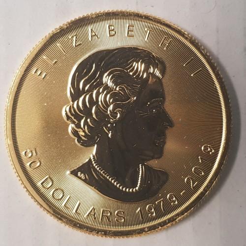 Gold Maple Leaf Canada Munt Waarde