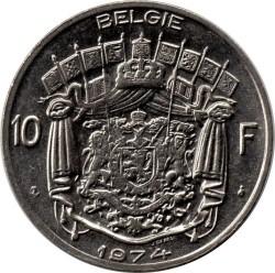 """Minca > 10francs, 1969-1979 - Belgicko  (Nadpis v holandčine - """"BELGIE"""") - reverse"""