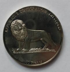Մետաղադրամ > 10ֆրանկ, 2003 -  Կոնգոյի Դեմոկրատական Հանրապետություն  (Historical Automobiles  - Isotta Fraschini Typ 8A 1927) - obverse