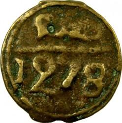 """Кованица > 2falus, 1860-1861 - Мароко  (Mintmark """"مراكش"""" - Marrakesh ) - reverse"""