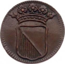 Moeda > 1duit, 1710-1724 - República Holandesa  - obverse