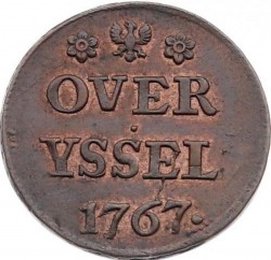 Moeda > 1duit, 1741-1769 - República Holandesa  - obverse