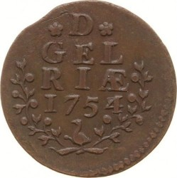 Moeda > 1duit, 1753-1757 - República Holandesa  - obverse