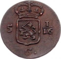 Munt > 1/16gulden, 1802-1809 - Nederlands-Indië  - obverse