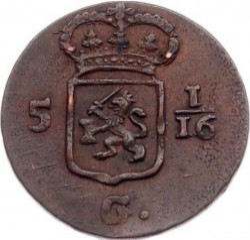 Munt > 1/16gulden, 1802-1809 - Nederlands-Indië  - reverse