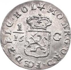 """Moneda > 1/16florines, 1802 - Indias Orientales Neerlandesas  (Lettering: """"INDIÆ BATAVORUM"""") - reverse"""