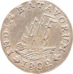 """מטבע > 1/16גולדן, 1802 - הודו ההולנדית המזרחית   (Lettering: """"INDIÆ BATAVORUM"""") - obverse"""