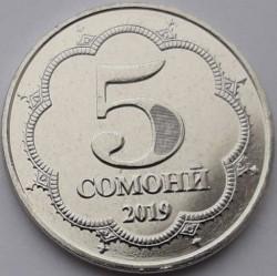 מטבע > 5סומוני, 2019 - טג'יקיסטן  - obverse