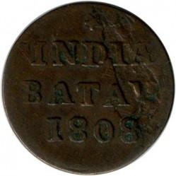 Coin > 1/16gulden, 1802-1809 - Netherlands East Indies  - obverse