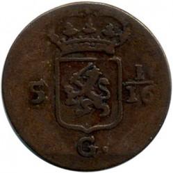Coin > 1/16gulden, 1802-1809 - Netherlands East Indies  - reverse