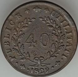 Монета > 40рейса, 1828-1829 - Португалия  - reverse