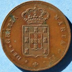 Монета > 10рейса, 1838-1839 - Португалия  - obverse