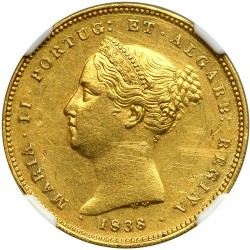Монета > 5000рейса, 1838 - Португалия  - obverse