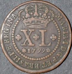 Moneda > 40réis, 1799 - Brasil  - obverse