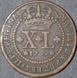 Moneda > 40réis, 1799 - Brasil  - reverse