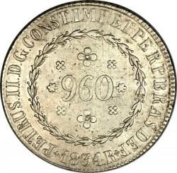 Coin > 960reis, 1832-1834 - Brazil  - obverse